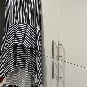 Dresses & Skirts - Navy and white striped lined layered ruffled skirt